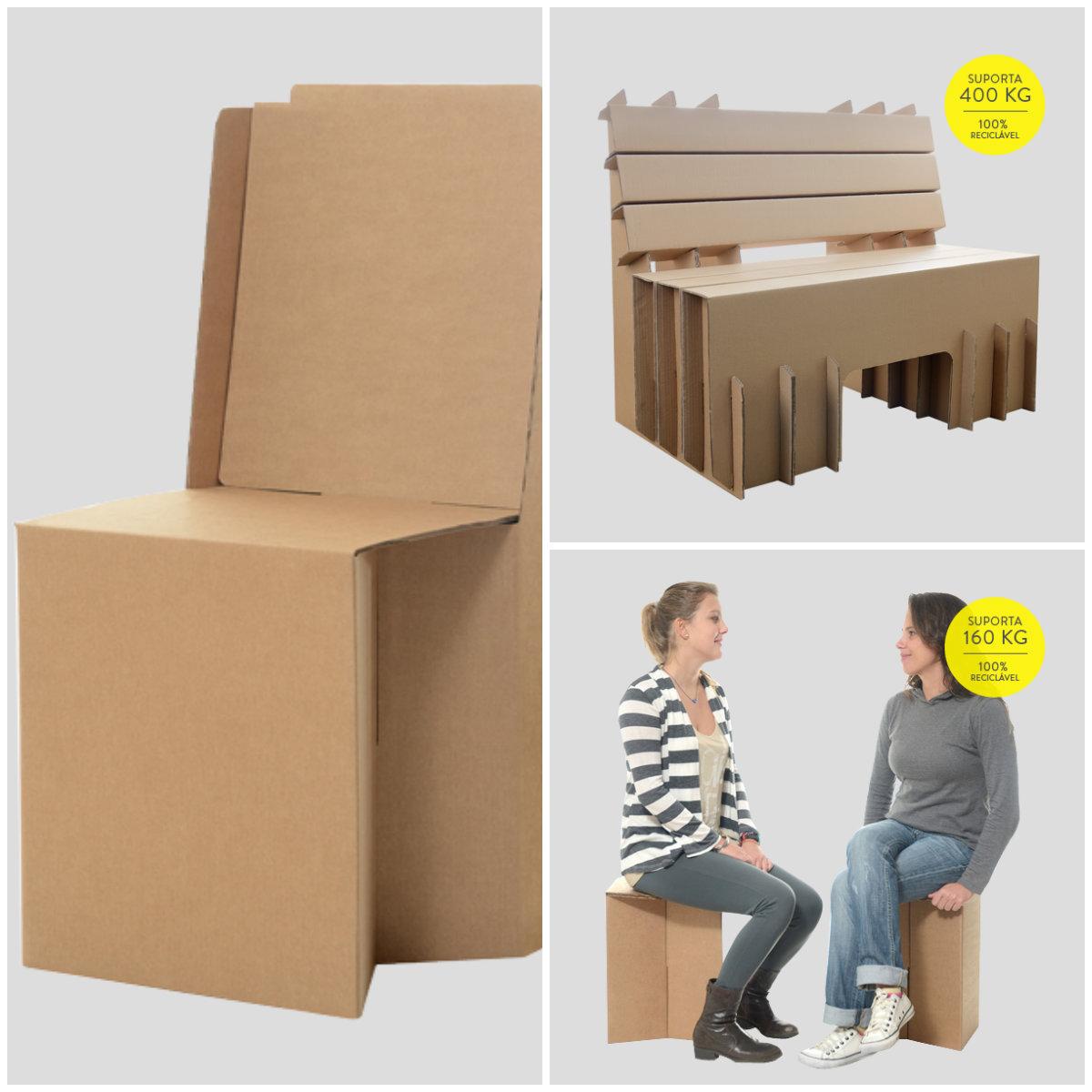 Conhecido 15 móveis de papelão para sua casa - CicloVivo VZ42